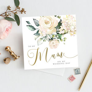 To My Mum Wedding Card | Thank You Card