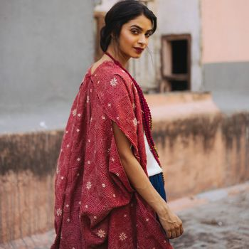Pure silk Hand embroidered robe