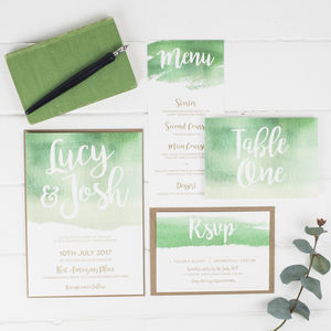 Botanical Watercolour Wedding Invitation - new in wedding styling