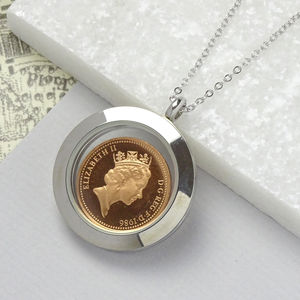30th Birthday Lucky Penny Glass Locket Necklace - necklaces & pendants