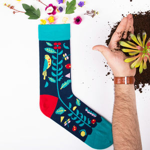 Bird Print Socks By Scout Editions