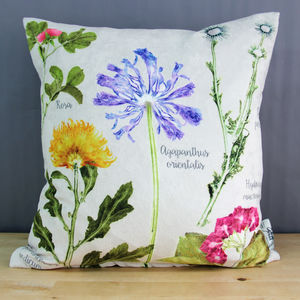 Mother's Day Botanical Flower Cushion Floral Gift - cushions