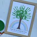 Personalised Rainbow Hand Print Tree