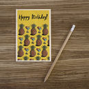 Birthday Pineapples Wooden Postcard By Timbergram