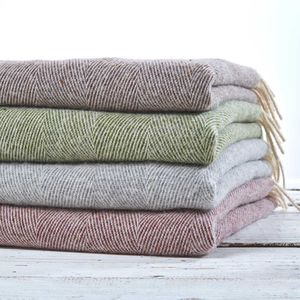 Essential Pure Wool Throw - blankets & throws