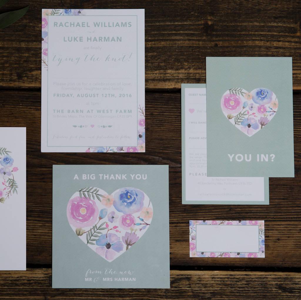 wild hearts wedding invitations by something kinda cute