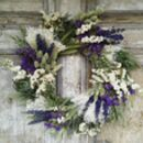 Blue Moon Dried Flower Wreath