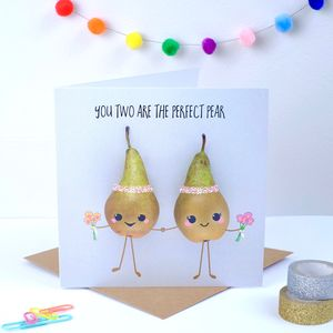 Perfect Pear Wedding Card Females - wedding, engagement & anniversary cards