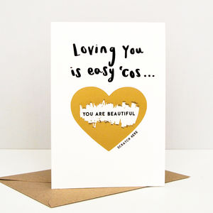 Loving You Is Easy Valentine Scratch Card - original valentine's cards