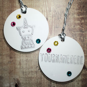 Personalised Unicorn Bauble Duo With Swarovski - winter sale