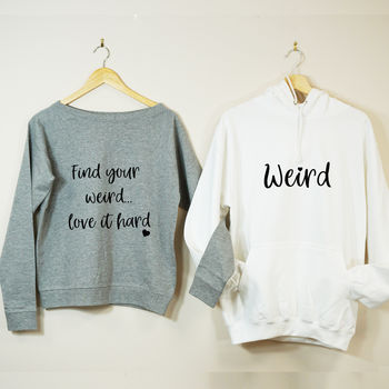 Find Your Weird Couples Sweatshirt Set