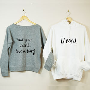 Find Your Weird Couples Sweatshirt Set - valentine's gifts for him