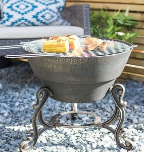 Cast Iron Volta Firepit - new in garden