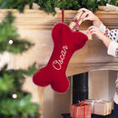 Personalised Wool Felt Dog Christmas Stocking