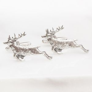 Personalised Deer Silver Plated Cufflinks - what's new