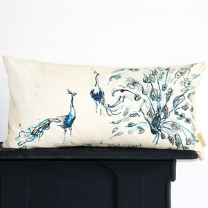 Show Off Peacock Cushion
