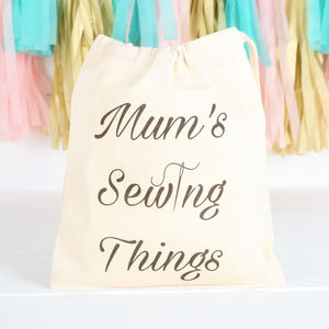Personalised Bag With Sewing Accessories