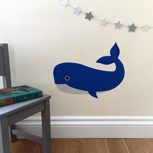 Blue Whale Nursery Wall Sticker - home accessories