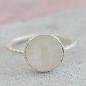 Semi Precious Moonstone Ring