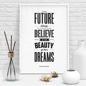 'The Beauty Of Their Dreams' Typography Print