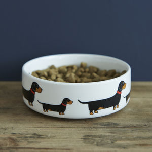 Dachshund Dog Bowl - treats & food