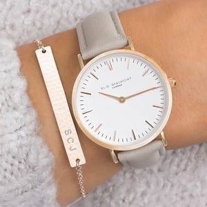 Personalised Cassia Watch And Hammered Bar Set - gifts for teenage girls