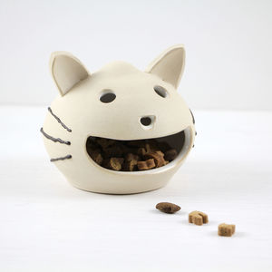 Ceramic Happy Cat Treat Holder