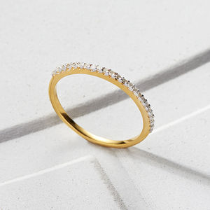 Diamond Pave Eternity Band - valentine's gifts for her