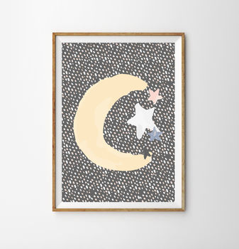 Moon Children's Nursery Print