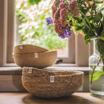Natural Jute And Seagrass Bowls