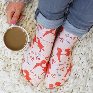Personalised Love Is Patterned Socks - new in fashion