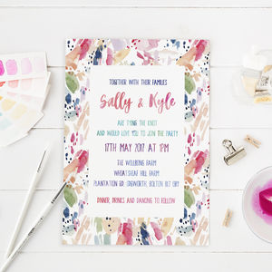 Candy Colours Wedding Invitation - invitations