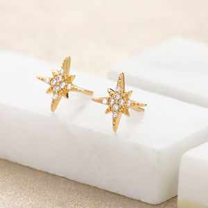 Starburst Stud Earrings - earrings