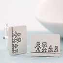 Personalised 'My Family' Silver Dad Cufflinks