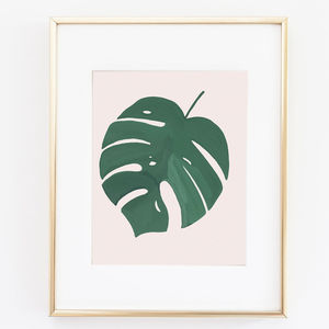 Monstera Leaf Print - drawings & illustrations