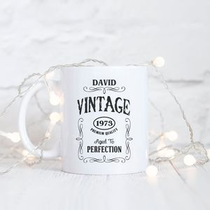 Personalised 'Vintage Aged To Perfection' Mug