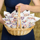 Biodegradable Petal Wedding Confetti Cone Basket