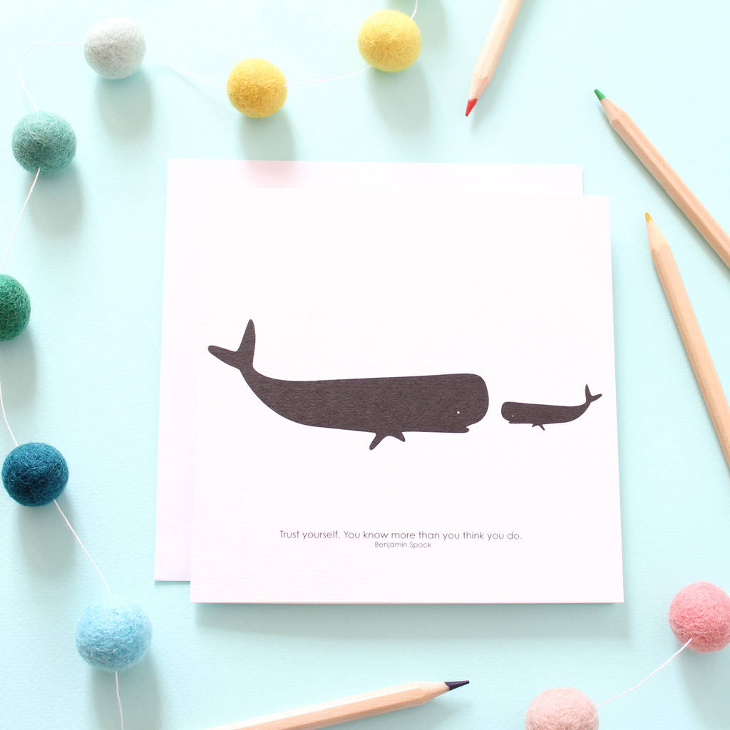 Trust Yourself, Big And Little Whale Card