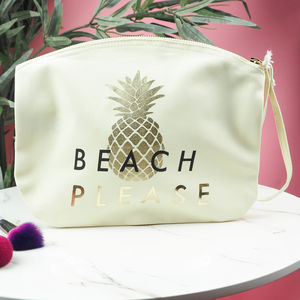 'Beach Please' Make Up Bag