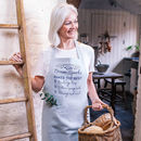 Personalised Botanical You're The Best Linen Apron