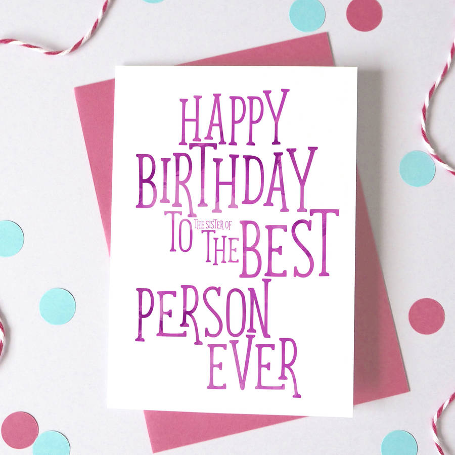 Best Person Funny Birthday Card