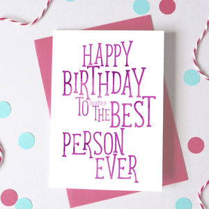 Best Person Funny Birthday Card - summer sale