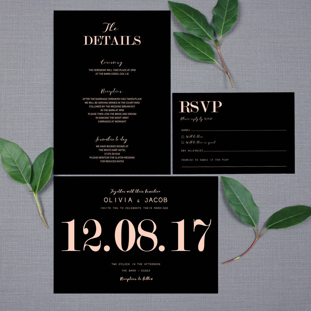 traditional modern wedding invitation - Modern Wedding Invitations