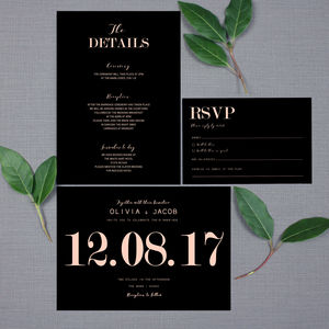 Traditional Modern Wedding Invitation - wedding stationery
