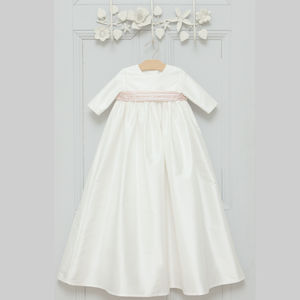 Echo Silk Long Sleeved Christening Gown