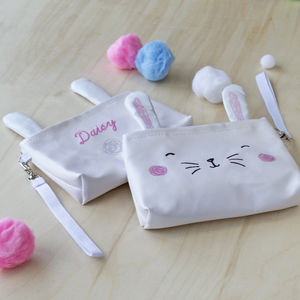 Girls Embroidered Bunny Purse