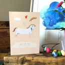 'You Da Bomb' Unicorn Card