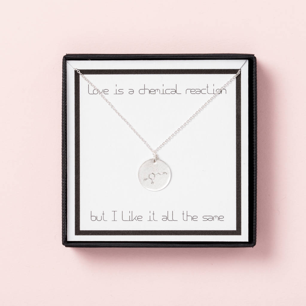 Love Is A Chemical Reaction Necklace Gift Box