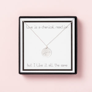 Love Is A Chemical Reaction Necklace Gift Box - necklaces & pendants