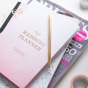 luxury engagement gift wedding planner book ombre by blush and gold